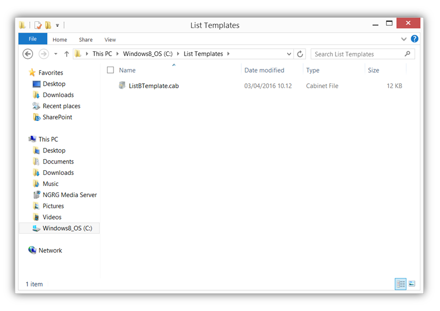Export List with Lookup - List B CAB Extension